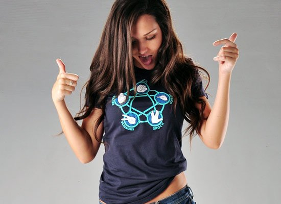 Rock Paper Scissors Lizard Spock on Juniors T-Shirt
