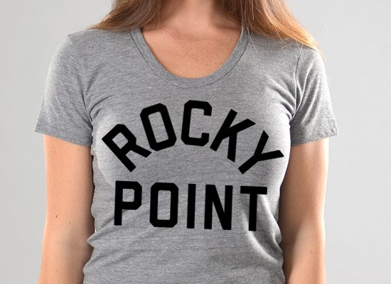 Rocky Point on Juniors T-Shirt