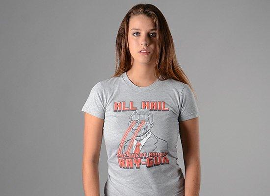 All Hail President Ronald Ray-Gun on Juniors T-Shirt