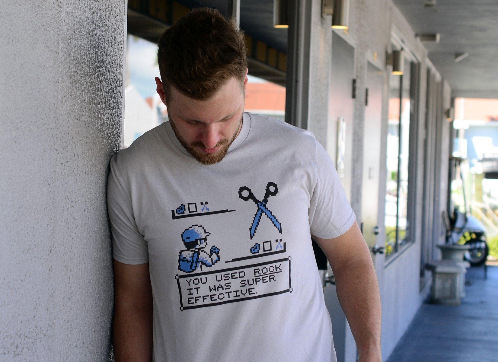 Rock Paper Scissors Battle on Mens T-Shirt