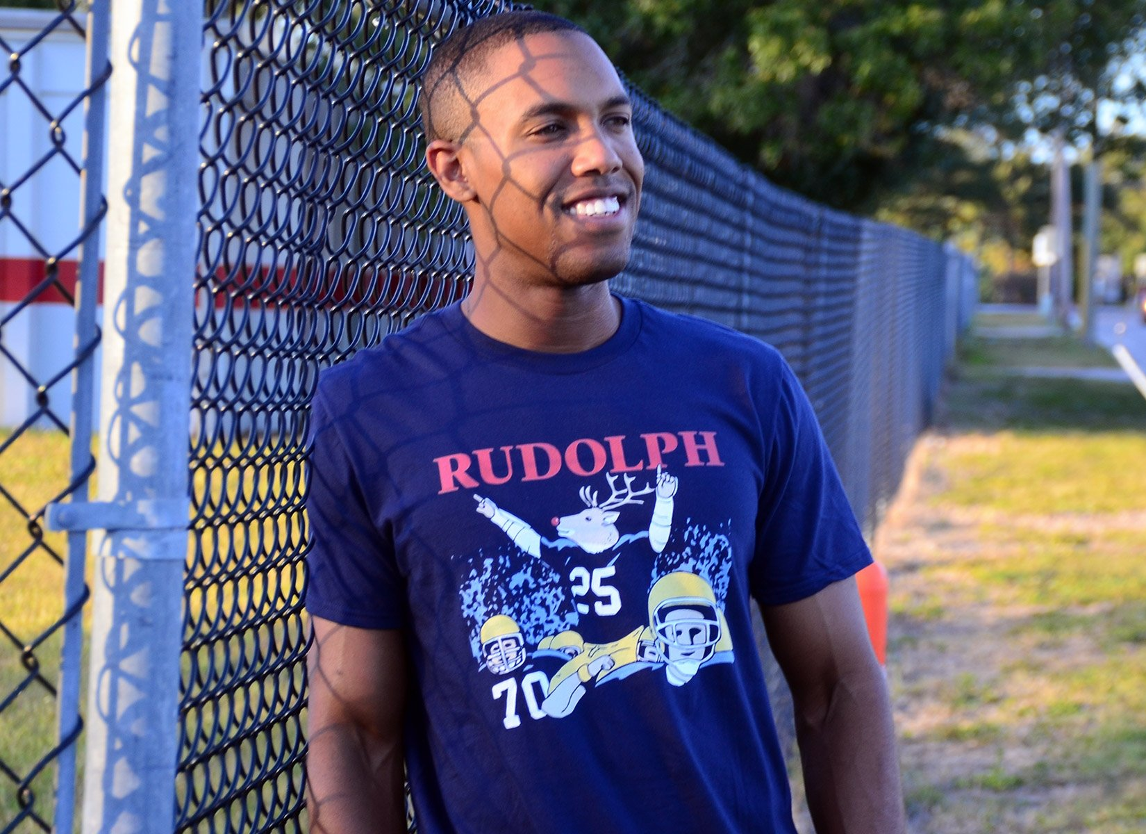 Rudolph on Mens T-Shirt