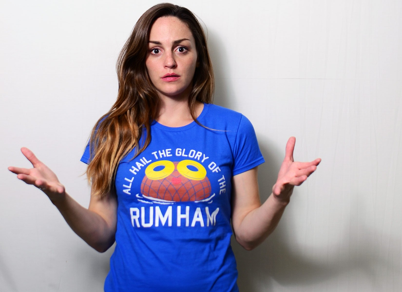 Rum Ham on Womens T-Shirt