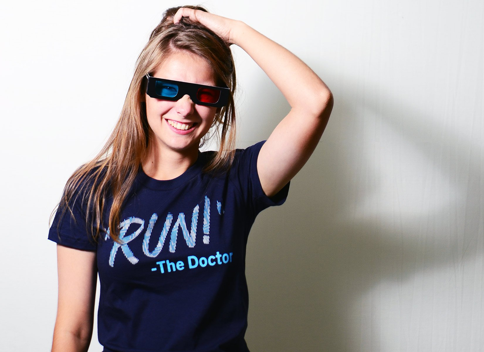 RUN! The Doctor on Juniors T-Shirt