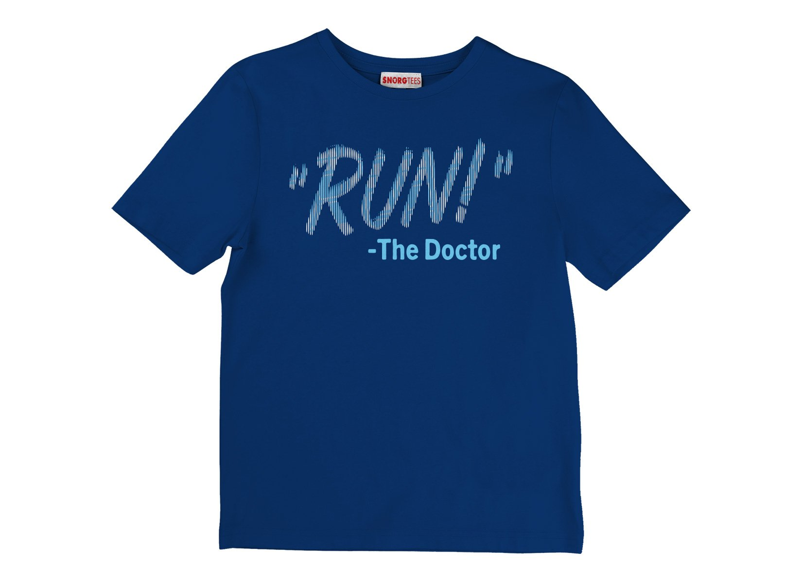 RUN! The Doctor on Kids T-Shirt