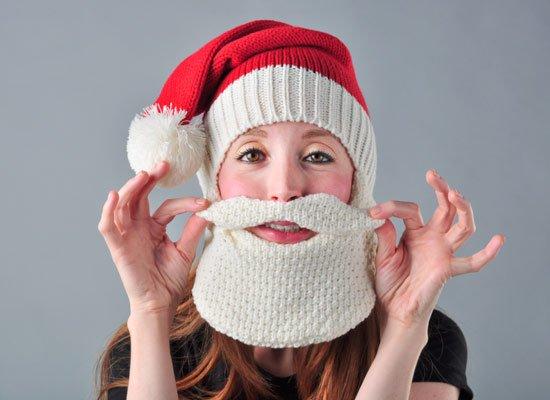Santa Beardhead on Mens Hats
