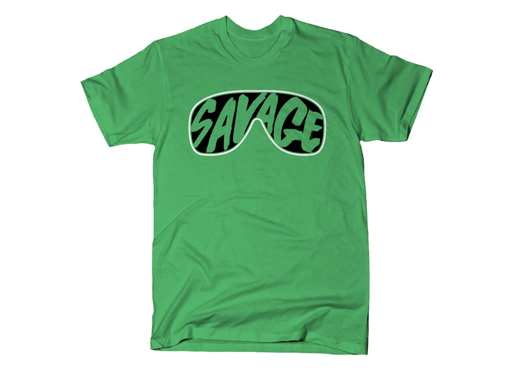 Savage Glasses on Mens T-Shirt