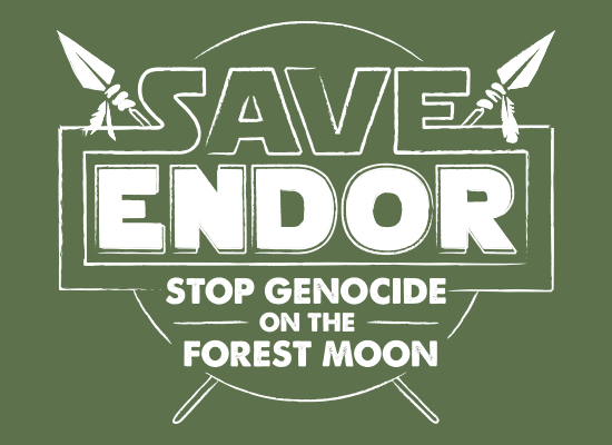 Save Endor on Mens T-Shirt