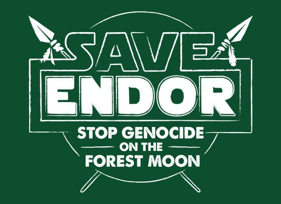 Save Endor on Mens T-Shirt