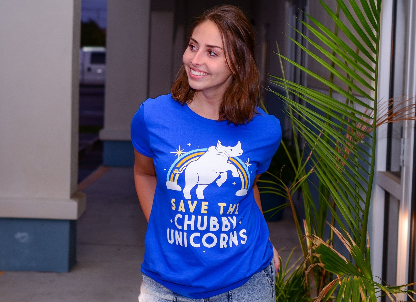 Save The Chubby Unicorns on Womens T-Shirt