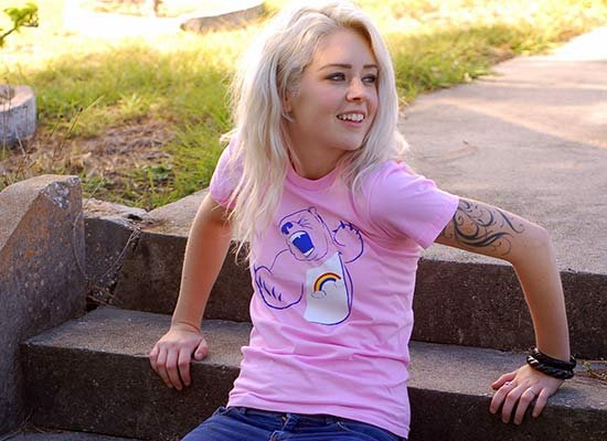 Scarebear on Juniors T-Shirt