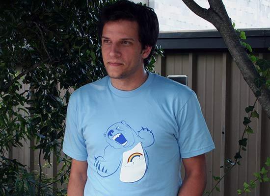 Scarebear on Mens T-Shirt