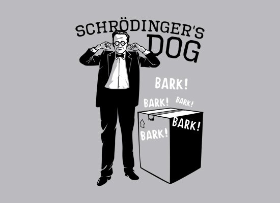Schrodinger's Dog on Mens T-Shirt