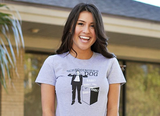 Schrodinger's Dog on Juniors T-Shirt