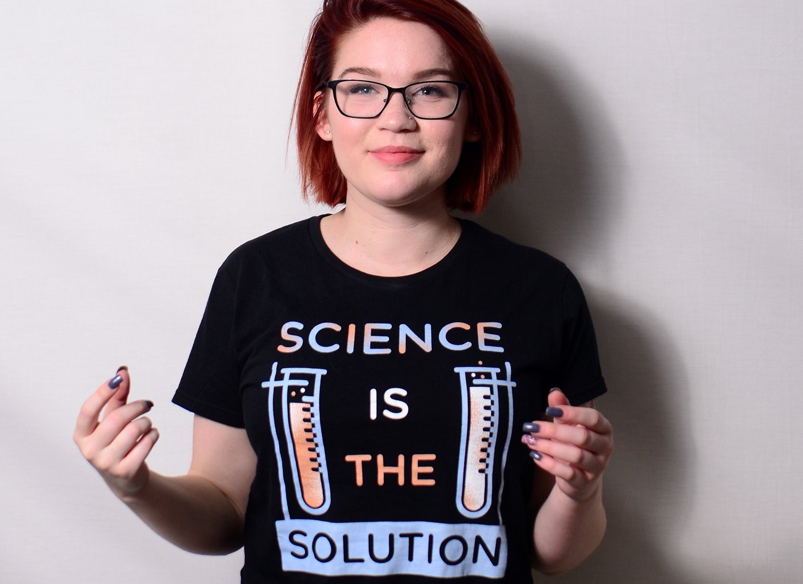 Science Is The Solution on Womens T-Shirt