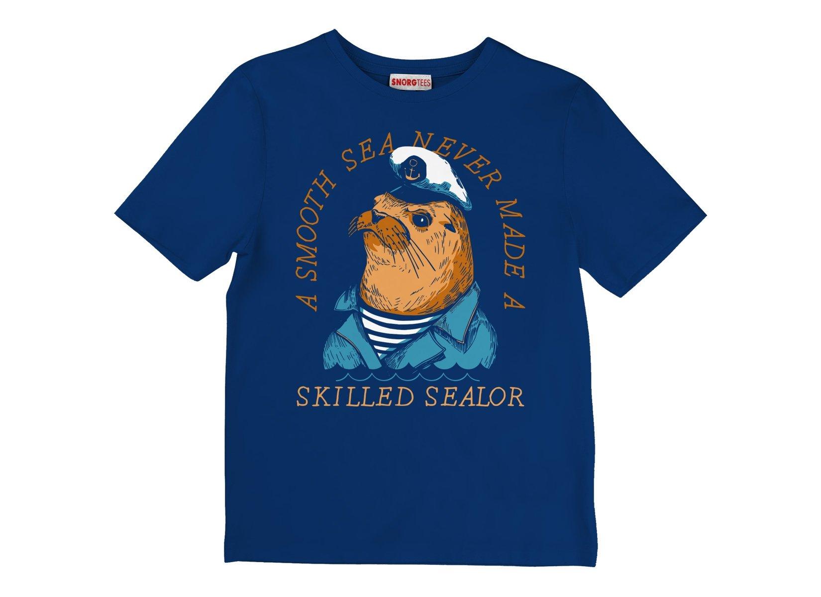 Skilled Sealor on Kids T-Shirt