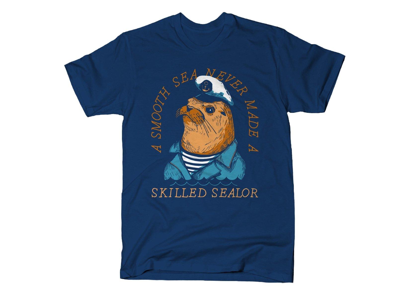 Skilled Sealor on Mens T-Shirt