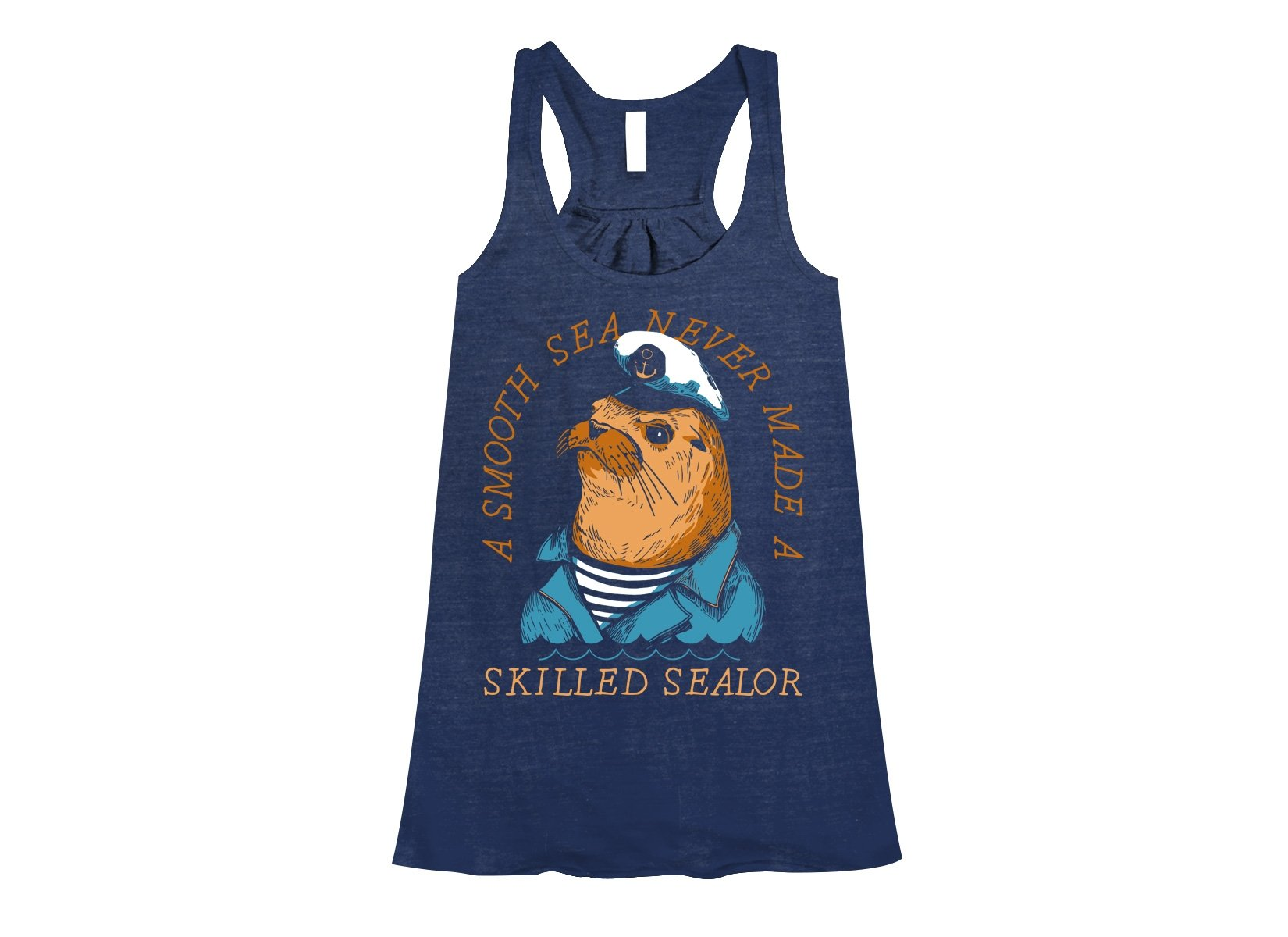 Skilled Sealor on Womens Tanks T-Shirt