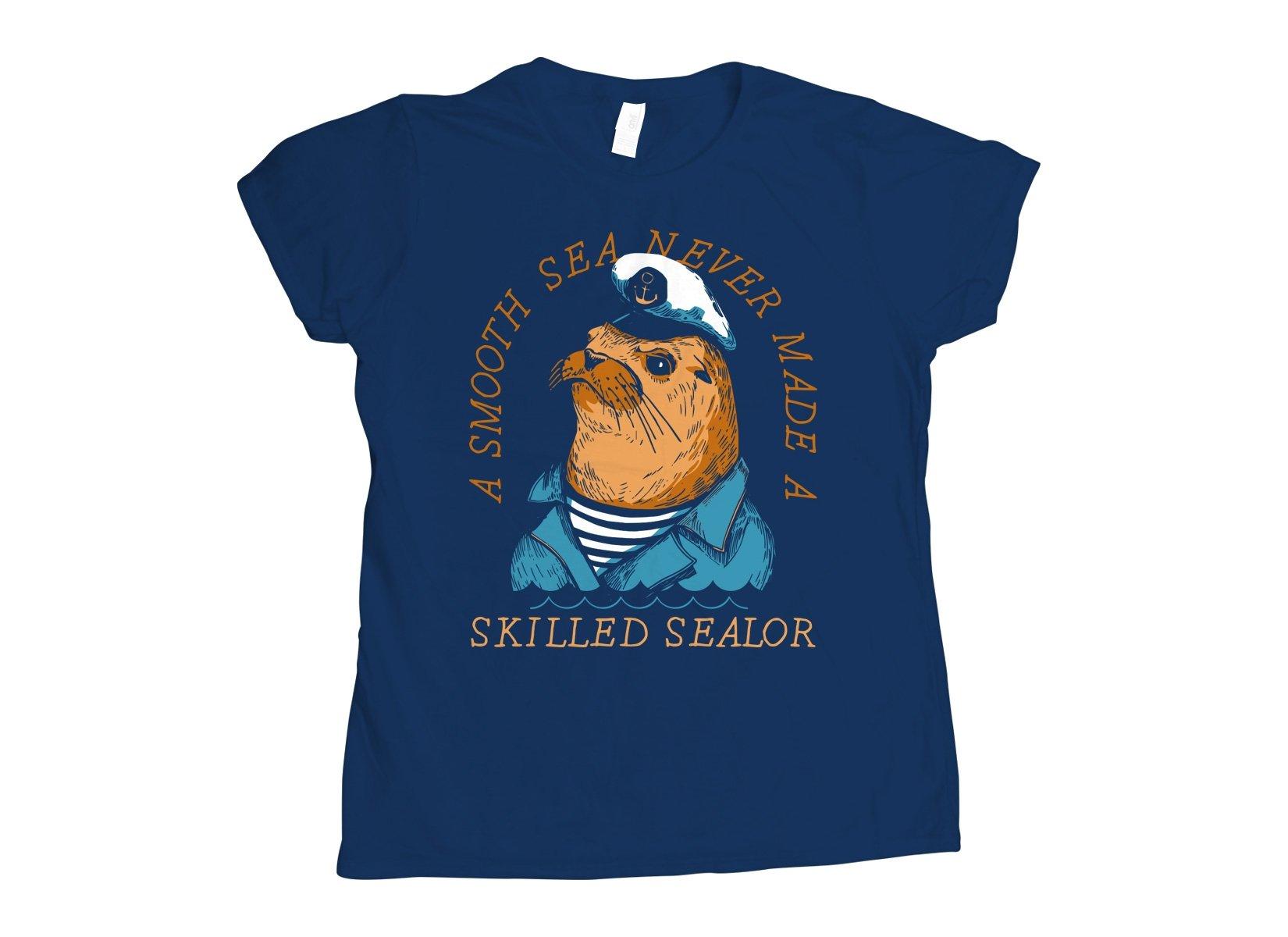 Skilled Sealor on Womens T-Shirt