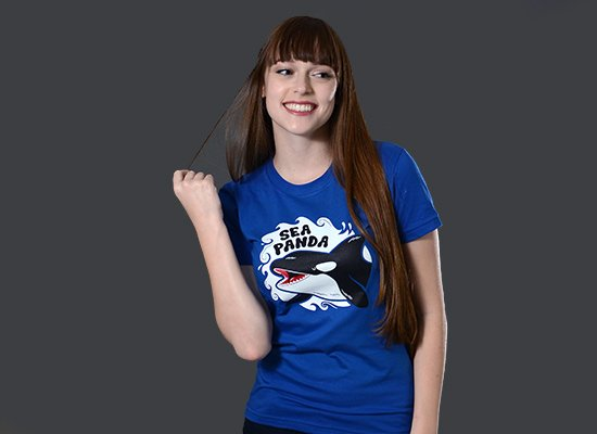 Sea Panda on Juniors T-Shirt