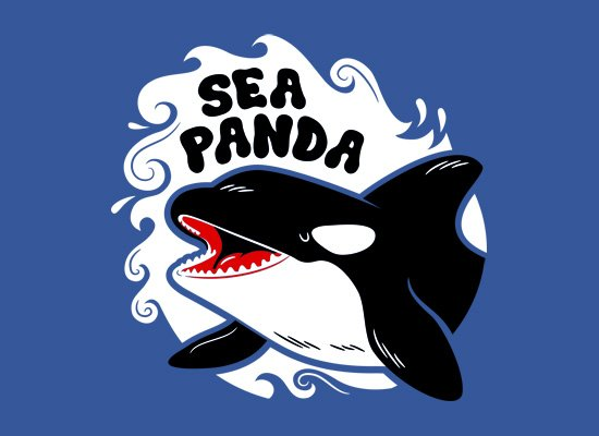 Sea Panda on Mens T-Shirt