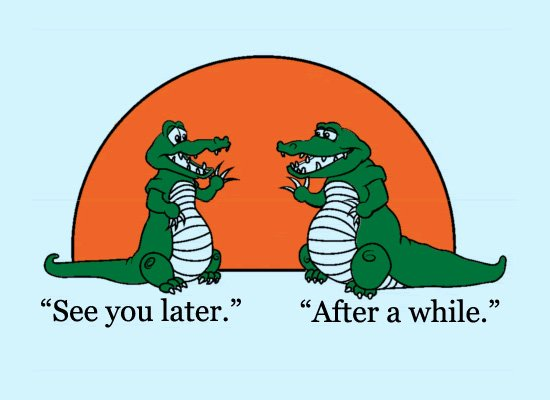See You Later Alligator on Mens T-Shirt