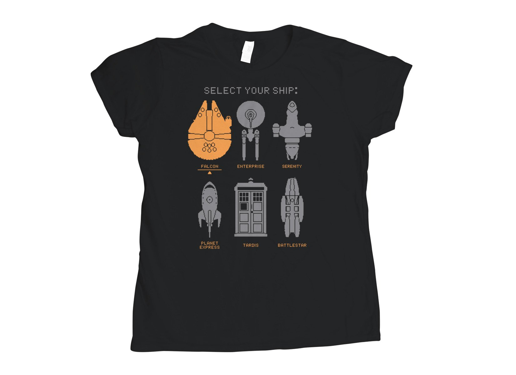 Select Your Ship on Womens T-Shirt