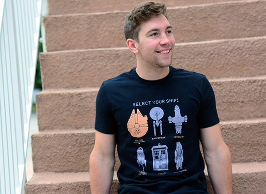 Select Your Ship on Mens T-Shirt