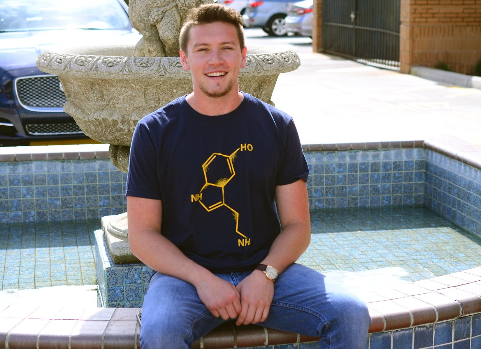 Serotonin on Mens T-Shirt