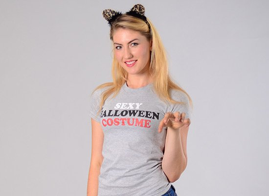 Sexy Halloween Costume on Juniors T-Shirt