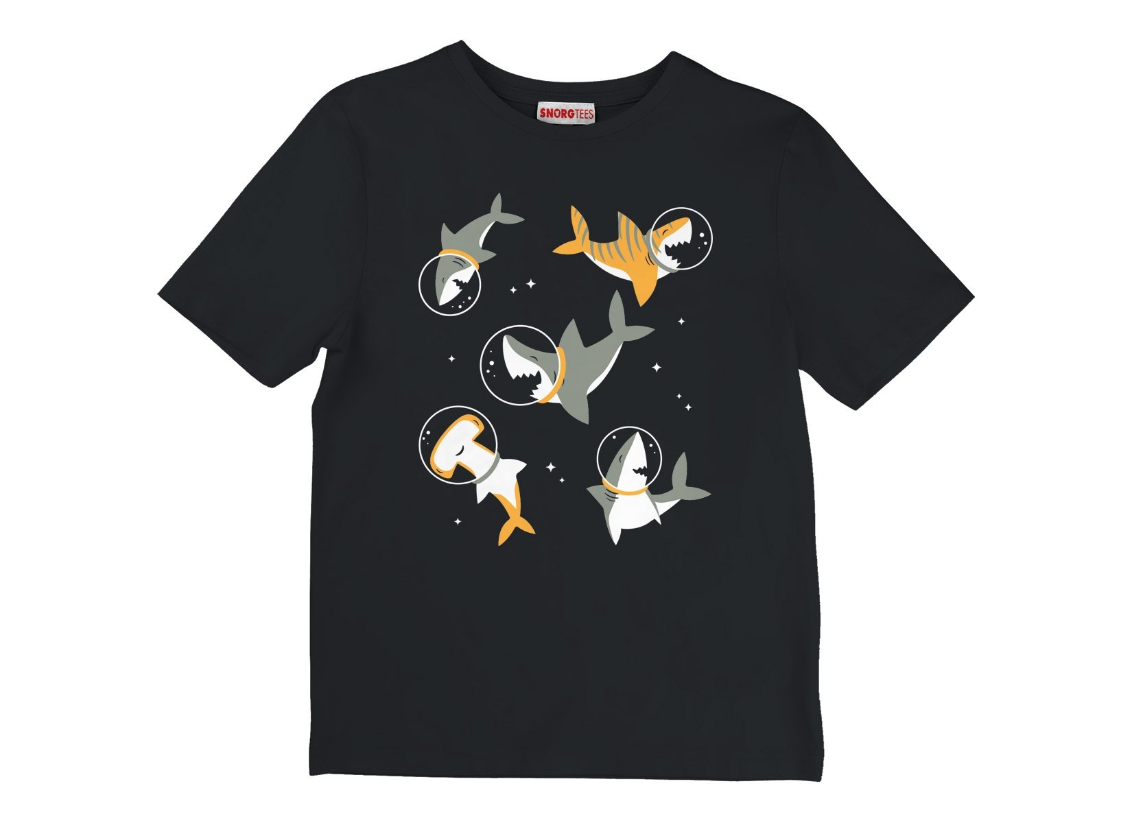 Sharks In Space on Kids T-Shirt