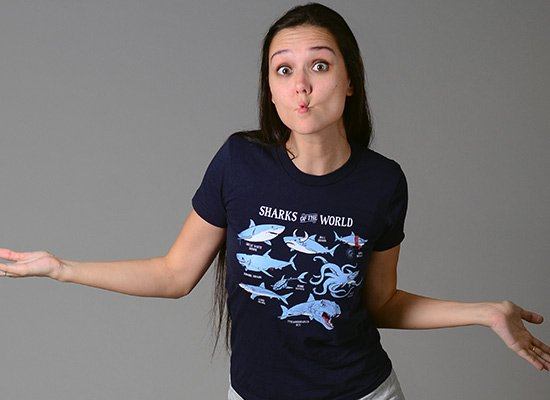 Sharks Of The World on Juniors T-Shirt