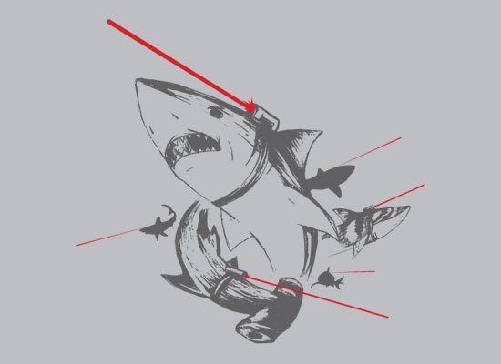 Sharks With Lasers on Mens T-Shirt