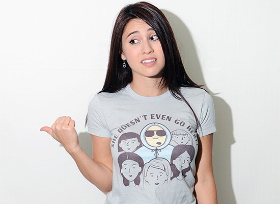 She Doesn't Even Go Here! on Juniors T-Shirt