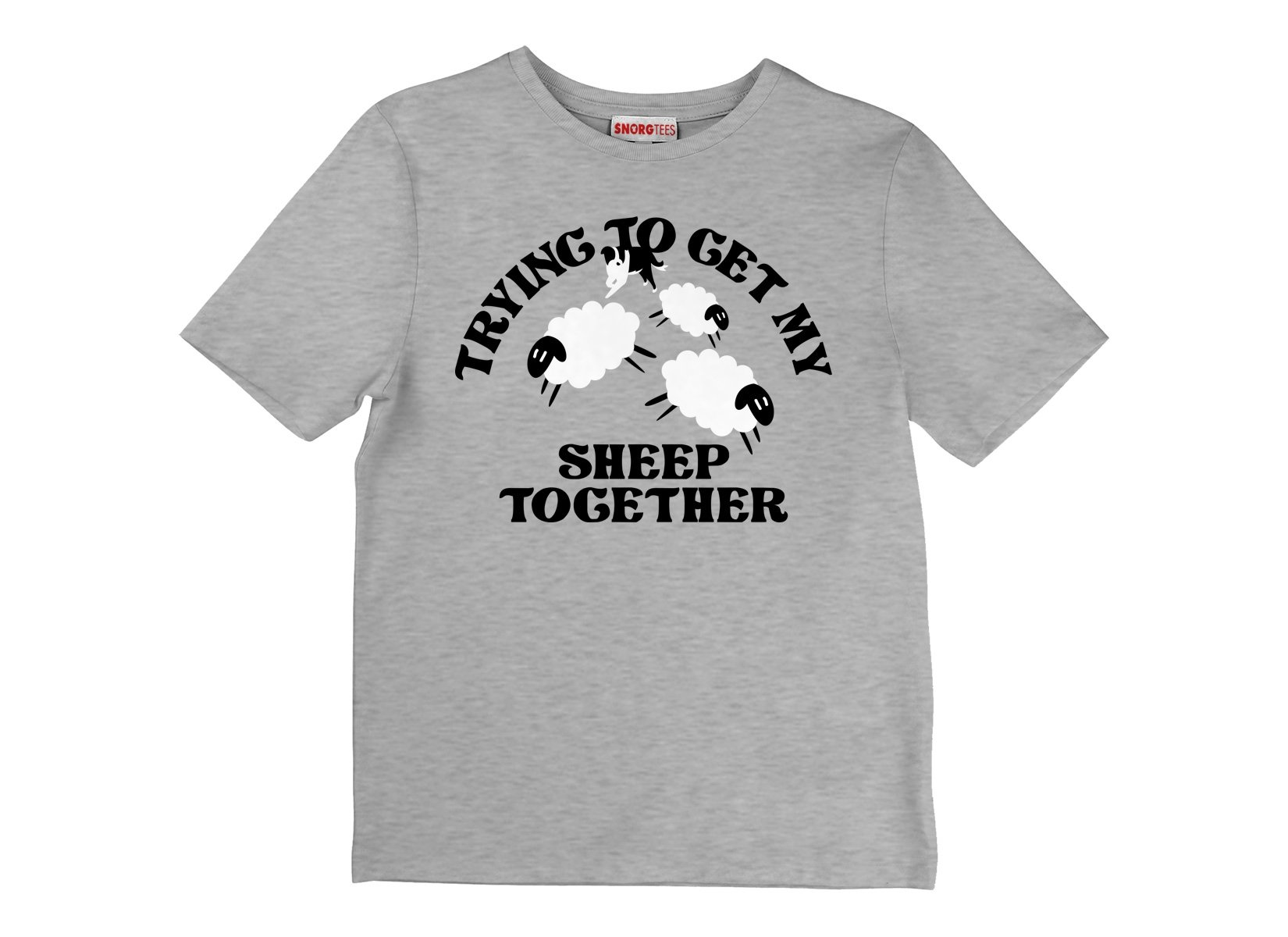 Trying To Get My Sheep Together on Kids T-Shirt