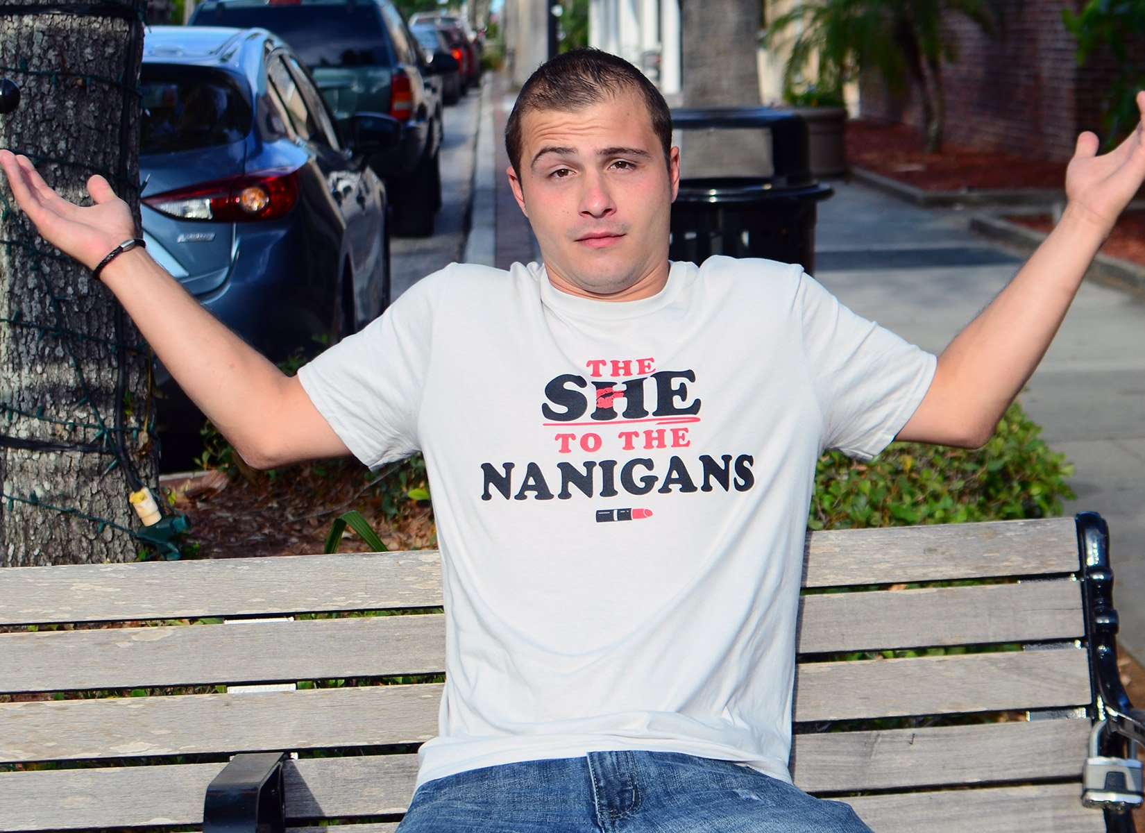 The She To The Nanigans on Mens T-Shirt