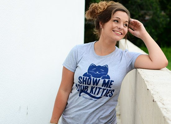 Show Me Your Kitties on Juniors T-Shirt