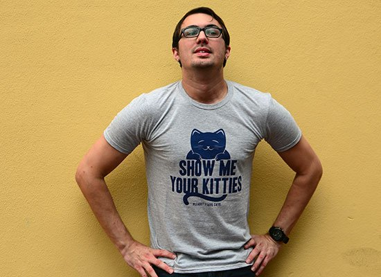Show Me Your Kitties on Mens T-Shirt