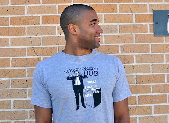Schrodinger's Dog on Mens T-Shirt