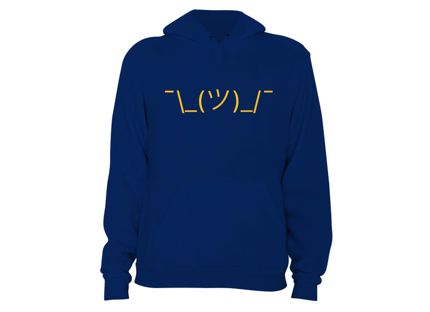 Shrug Emoji on Hoodie
