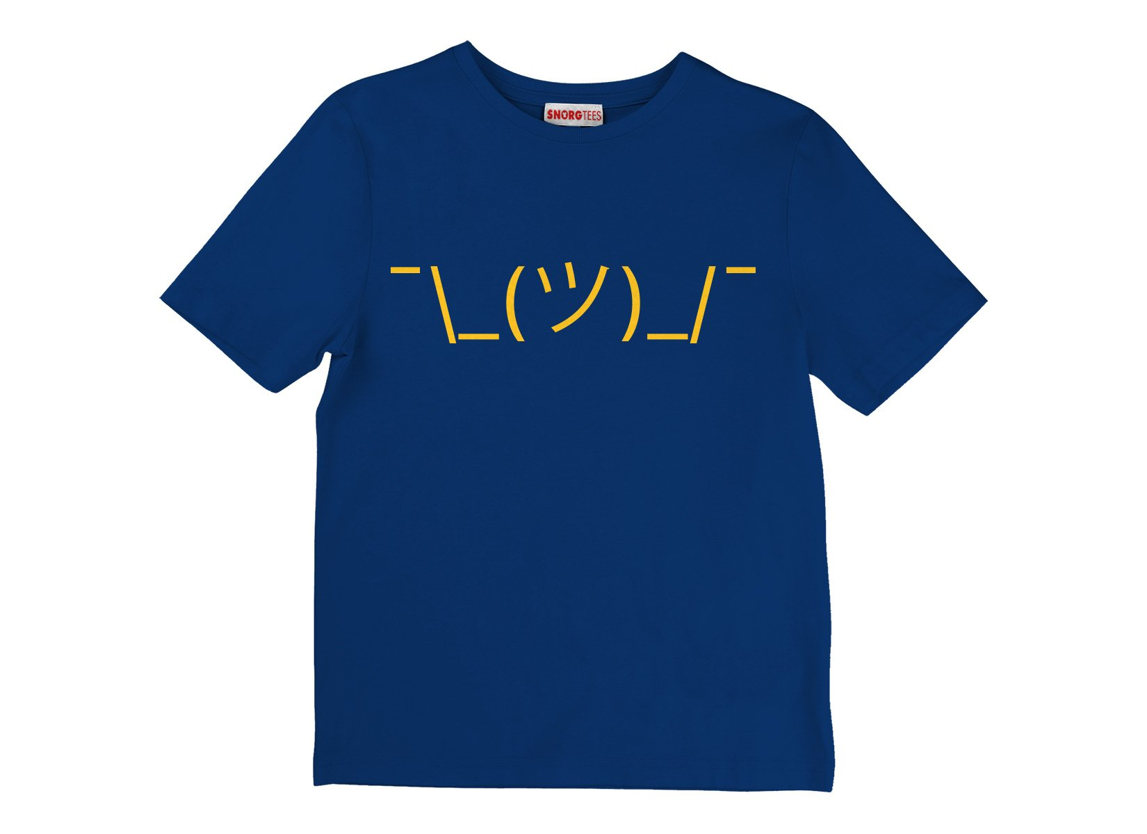 Shrug Emoji on Kids T-Shirt