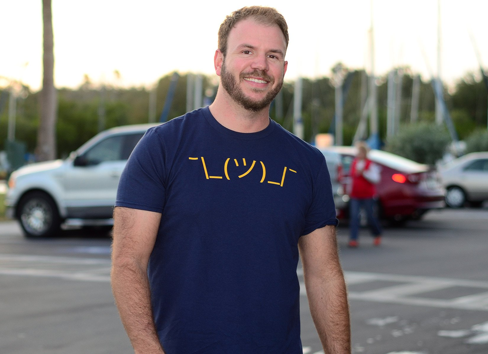 Shrug Emoji on Mens T-Shirt