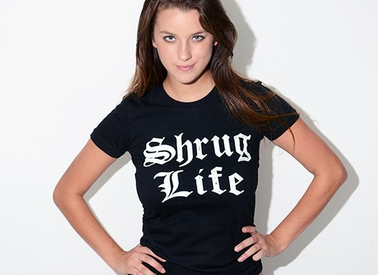 Shrug Life on Juniors T-Shirt