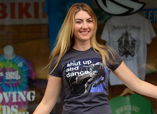 Shut Up And Dance on Juniors T-Shirt