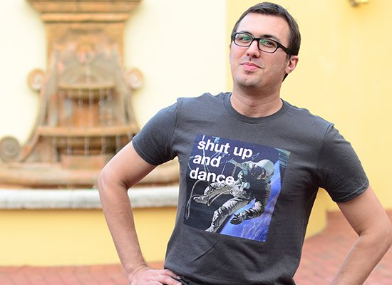 Shut Up And Dance on Mens T-Shirt