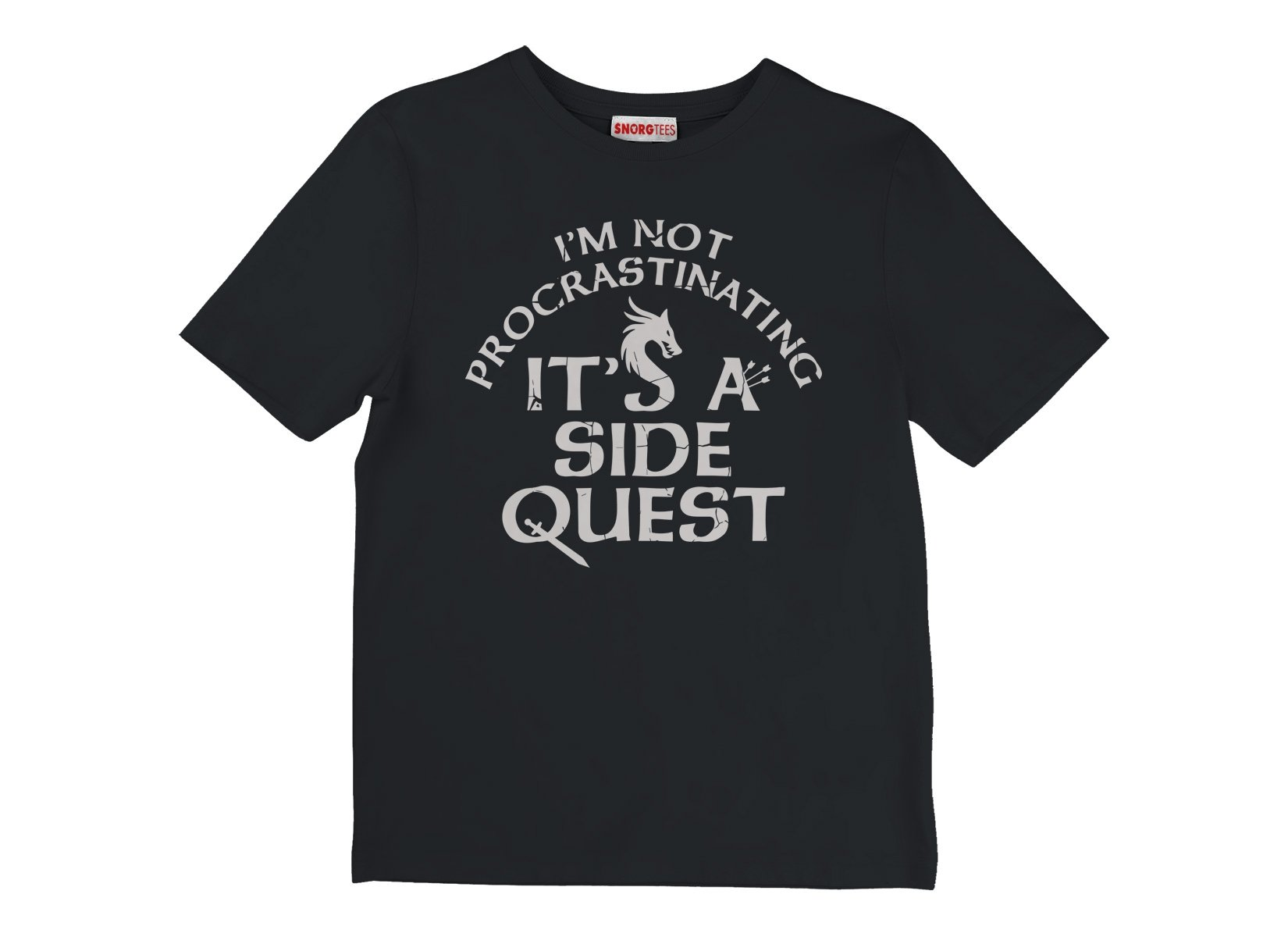 I'm Not Procrastinating, It's A Side Quest on Kids T-Shirt