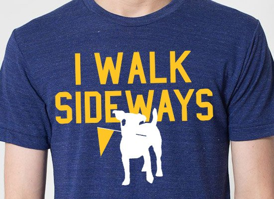 I Walk Sideways on Mens T-Shirt