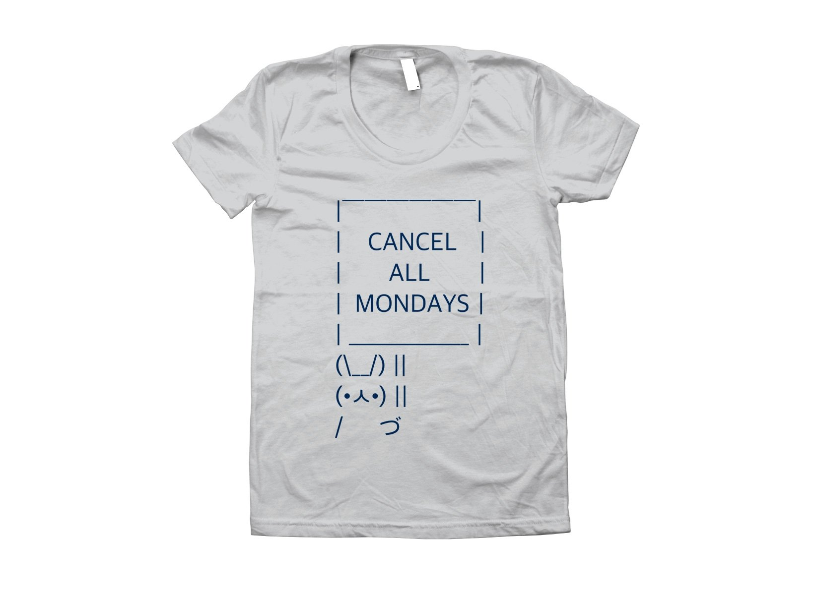 Cancel All Mondays Bunny on Juniors T-Shirt