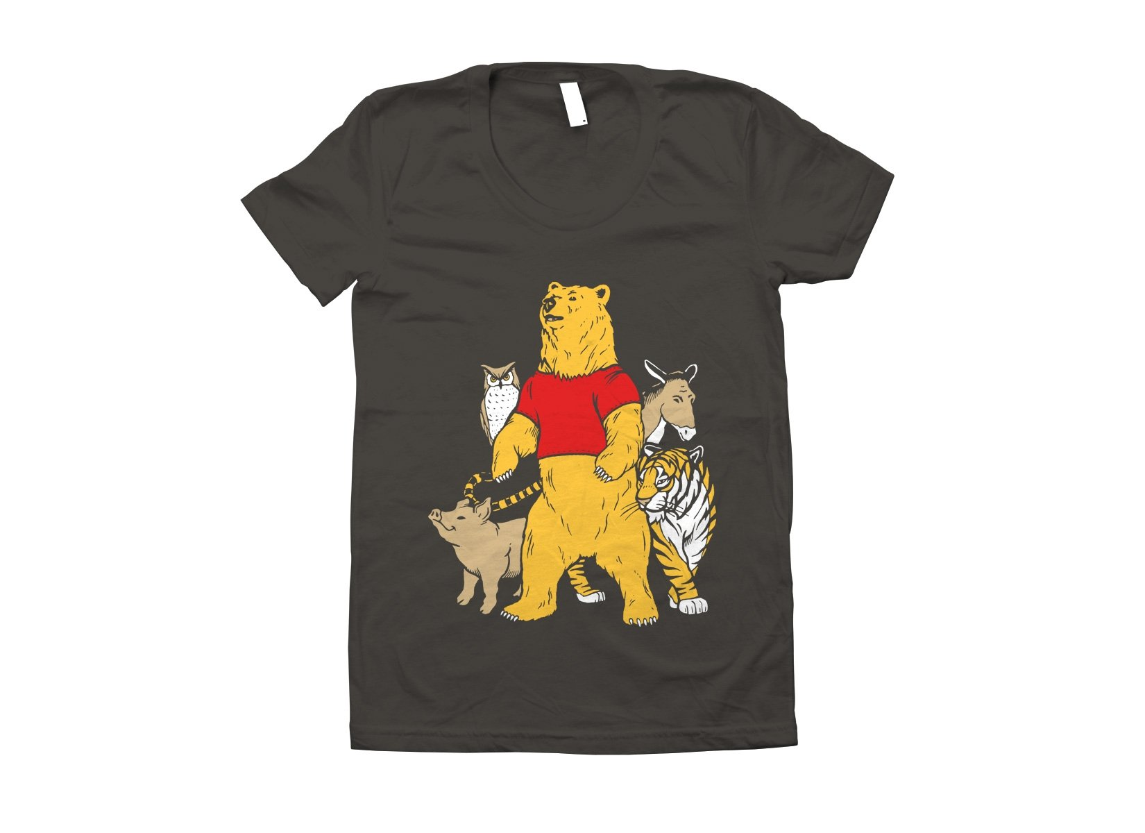 Bear And Friends on Juniors T-Shirt