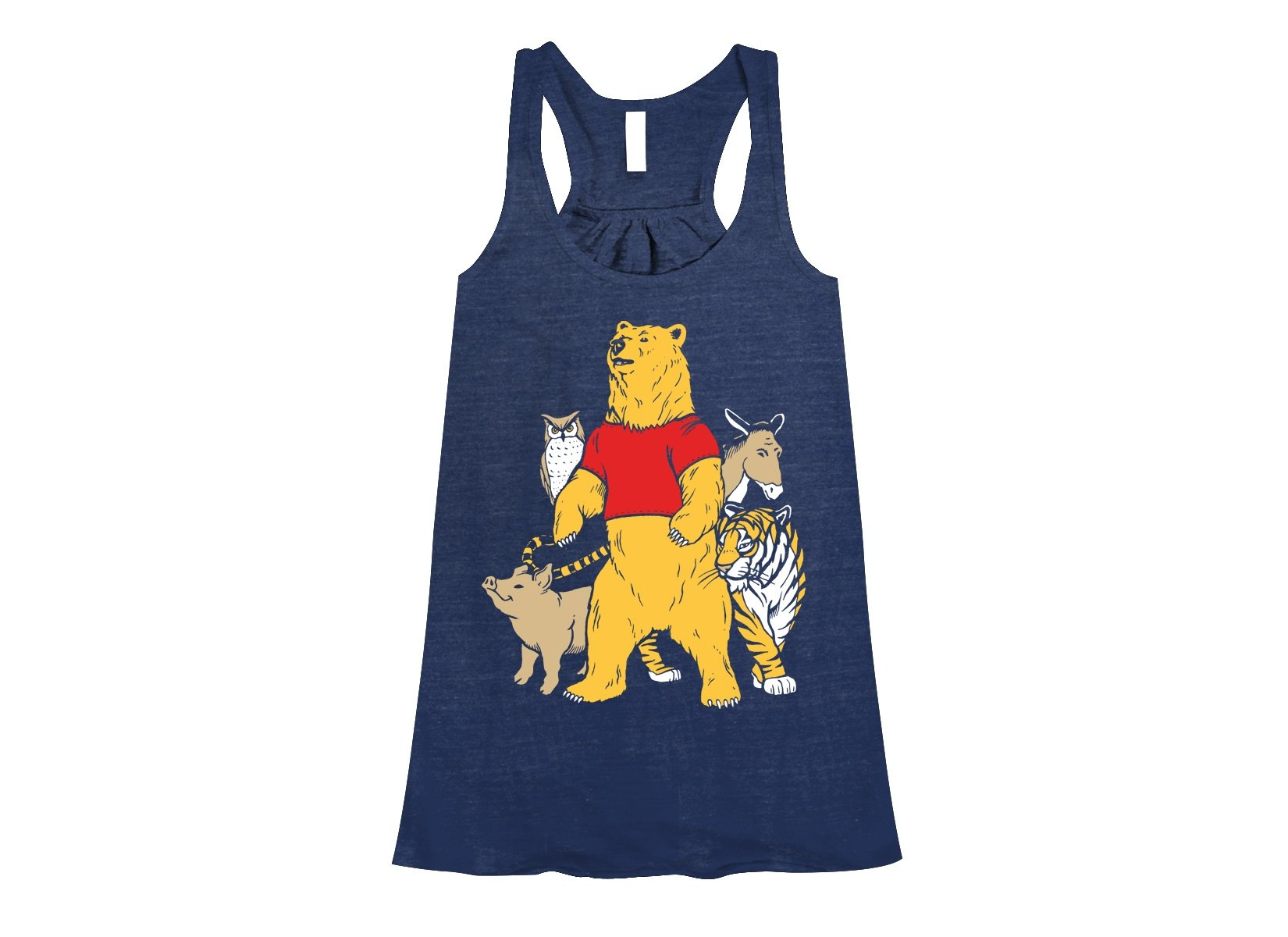 Bear And Friends on Womens Tanks T-Shirt