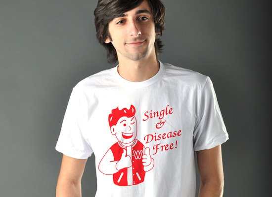 Single & Disease Free on Mens T-Shirt